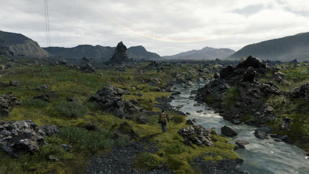 Il mondo di gioco di Death Stranding, modellato sui panorami islandesi (Hideo Kojima, 2019)